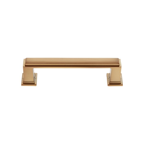 96 mm Marquee Pull in Satin Brass