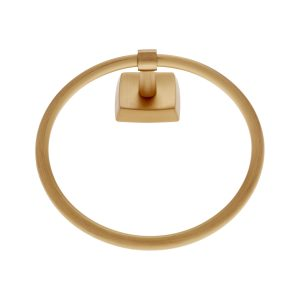 Serene Series Towel Ring in Satin Brass