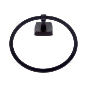 Serene Series Towel Ring in Matte Black