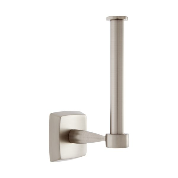 Serene Series Euro Paper Holder in Satin Nickel