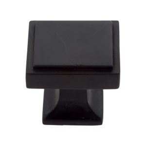 30 mm Square Knob in Matte Black