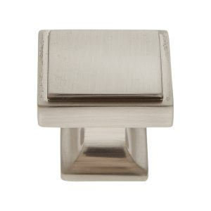 30 mm Square Knob in Satin Nickel