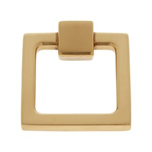 Sterling Collection Satin Brass Finish Square Ring Pull, Composition Brass