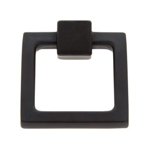 Square Ring Pull in Matte Black