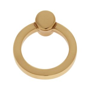 45 mm Round Ring Pull in Satin Brass