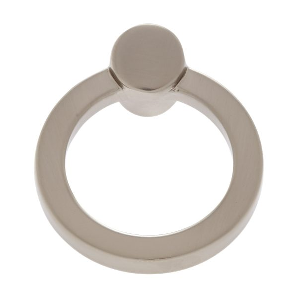 45 mm Round Ring Pull in Satin Nickel