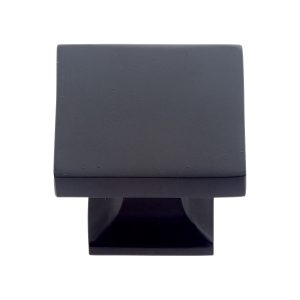 30 mm Flat Square Knob in Matte Black