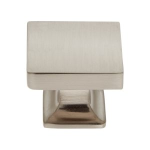 30 mm Flat Square Knob in Satin Nickel